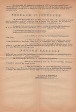 1956 Tract Appel à la Grève Parti Communiste Français Section de Montreuil Rare