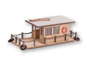 Noch 14437 Tt Gauge, House Boat (Laser-Cut Minis Kit) # New Original Packaging #