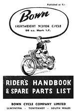 (0181) Bown 1.F Auto roadster handbook & parts book