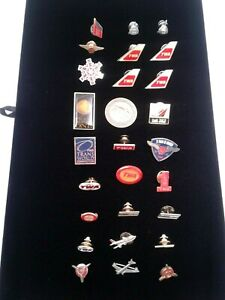 Qty 27 Vintage TWA Crew Member Wings Metal Pins