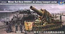 Trumpeter 1/35 Morser Karl-Gerat 040/041 sul trasporto ferroviario Carrier 00209