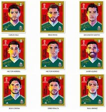 SET OF 9 COCA COLA STAMPS PANINI FIFA CUP 18 RUSSIA 2018 MEXICAN MEXICO EDITION