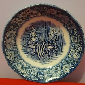 Liberty blue Historic Colonial scenes - Betsy Rose blue and white small bowl