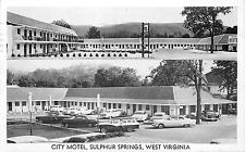 WHITE SULPHUR SPRINGS WV CITY MOTEL VIEWS RTE.60 CHROME 1958 POSTCARD