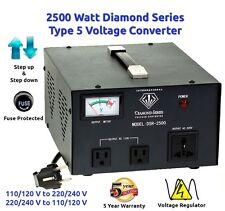 Diamond Series DSR-2500 w/ Regulator Watt Step Up/Down Voltage Converter