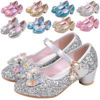 Girls Diamante Bridesmaid Party Wedding Sandals Infants Fancy Dress Bow Shoes