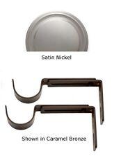 Designer Metals Curtain and Drapery Pole Brackets (Satin nickel) (1858570)