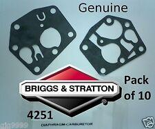 Briggs & stratton carburateur diaphragme/kit d'étanchéité 4251 pack de 10 795083 authentique