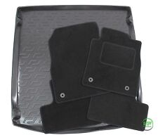 VAUXHALL ASTRA J ESTATE  2009-up Tailored black floor car mats + boot tray mat