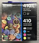 Epson Genuine Ink- 410XL Black /410 Standard Ph. Black Cyan Magenta Yellow- New