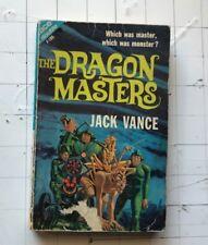 ACE DOUBLE F-185 DRAGON MASTERS/FIVE GOLD BANDS JACK VANCE SCI-FI PB 1962 D&D!!