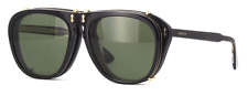 *NEW AUTHENTIC* GUCCI GG0128S 005 BLACK FRAME, GREEN LENS, SIZE 56mm