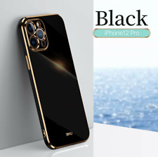 Case For iPhone 12 Pro Max 11 Xs X Xr 7 8 Plus Plating Silicone Soft Phone Cover