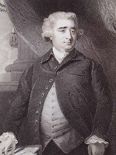 """Charles James Fox"" engraving after Reynolds by Cook for London Printing ca 1820"