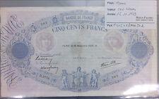 BILLET 500 FRANCS BLEU ET ROSE - 16-11-1939