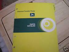 John Deere Chemical Transfer Pump dealer's parts book
