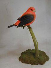 Scarlet Tanger Original Bird Wood Carving
