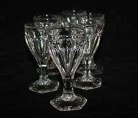 VICTORIAN EAPG COLONIAL OCTAGON FOOT CAMBRIDGE? SET OF 6 CORDIAL, SHERRY GOBLETS