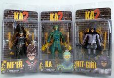 "THE MF'ER KA & HIT-GIRL KA 2 KICK ASS Movie 7"" inch Figures Set of 3 Neca 2013"