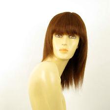 perruque femme 100% cheveux naturel châtain clair cuivré ref KOKO 30