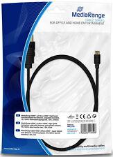 Mediarange HDMI - Micro Kabel 1.4 Ethernet A/D mit Gold Connectors 1 m schwarz
