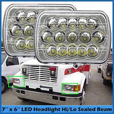 """7''x6"""" LED Headlights For International Harvester 4700 4800 4900 8100 9400i SBA"""