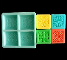 Plant Square Soap Mold Craft Art Resin Clay Tool Silicone Handmade Soap DIY Mold