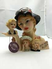 """Cameo Girls Deluxe Lady Head Vase Blythe 1966 """"Yard Sale Surprise"""" COA Limited E"""