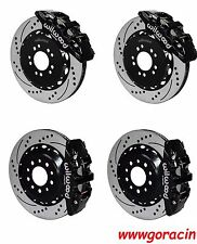 "Wilwood Brake Kit fits 2014-2016 Corvette,15""/14"" Drilled Rotors,Black Calipers"
