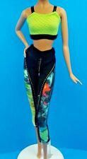 """SPARKLE GIRLZ BARBIE WORKOUT EXERCISE SPORTY OUTFIT ALSO FITS 10"""" DOLLS & MODEL"""