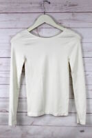 New Free People Intimately Seamless Long Sleeve Bodycon Top Ivory Womens M $38
