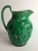 "Wedgewood & Barlaston of Etruria Majolica Green Pitcher England 6"" Tall"