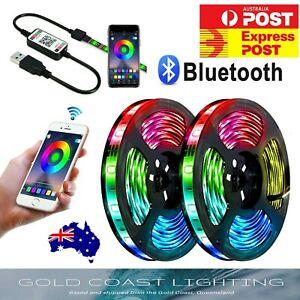 NEW LED Strip Lights RGB USB IP65 Waterproof 1M-10M 60-300 LEDs Bluetooth 5V