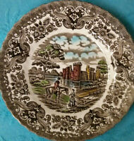 "Vintage Olde Country Castles, British Anchor plate, D 7"", Made in England"