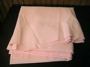 """Soft Pastel Pink Fabric Tablecloth 90"""" Round Easter, Valentines Day"""