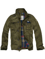 Mens CALI HOLI Flannel Lined Military Cargo Jacket Olive 155022