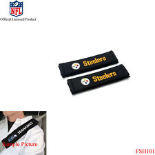 New NFL Pittsburgh Steelers Car Truck Suv Van Seat Belt Shoulder Pads Covers