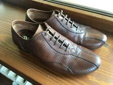 Belstaff Leather Driving Shoes Ventilated Lace Up Scarpe Basse Stringate Pelle