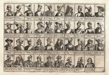 Antique engraving, No title. Kings & Queens of Holland. 39 portraits of …