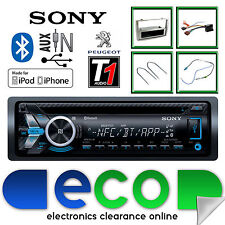 Peugeot 308 Sony CD MP3 USB Bluetooth Handsfree Radio Stereo Grey Fascia Kit