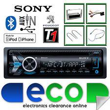 Peugeot 308 Sony CD MP3 USB Bluetooth Handsfree Radio Stereo Grey Fascia Kit