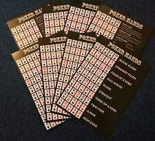 Texas Holdem Poker Hand Guide: 8 * A5 Double-Sided Cards