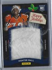 2013 Panini Black Friday Montee Ball Jumbo Used Santa Hat Rookie (Broncos)