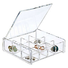"""6"""" Square Clear Acrylic 12 Compartment Cosmetic Makeup Jewelry Organizer"""