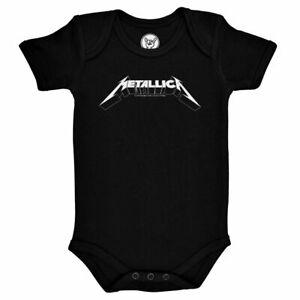 Metallica Logo Official Babygrow Romper Black (Ages 0-18 Months)
