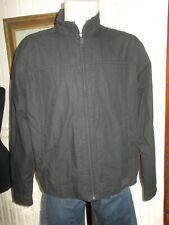 veste droit blouson coton noir léger TEDDY SMITH XL 54/56 ZIP logo devant