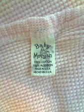 New listing Baby Morgan Pale Pink Waffle Thermal Receiving Security Blanket 25x31 Cotton