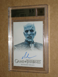 BGS 9.5 2017 GAME OF THRONES RICHARD BRAKE NIGHT KING SIGNED AUTO autograph CARD