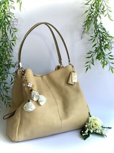Coach - Madison Phoebe Leather Shoulder Bag Soft Tan Hobo Handbag Purse K1381-26