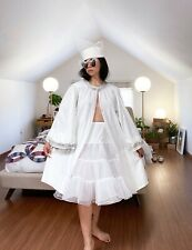 Antique Vintage Celestial Cotton Robe Coat with Tinsel Trim Angel Costume Dress